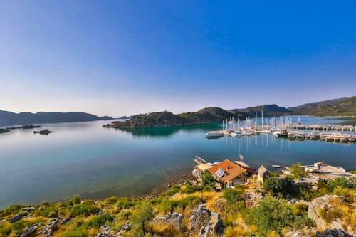 View of Kekova Boutique Hotel from above